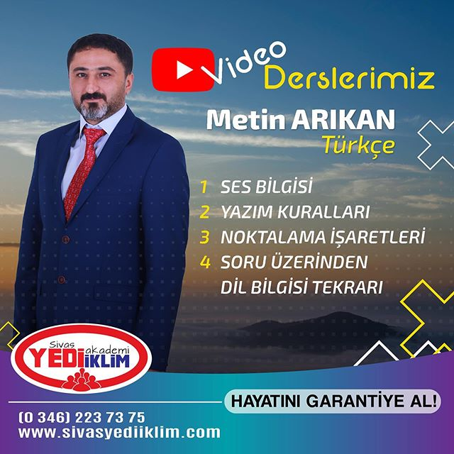 Türkçe Video Ders Konularımız